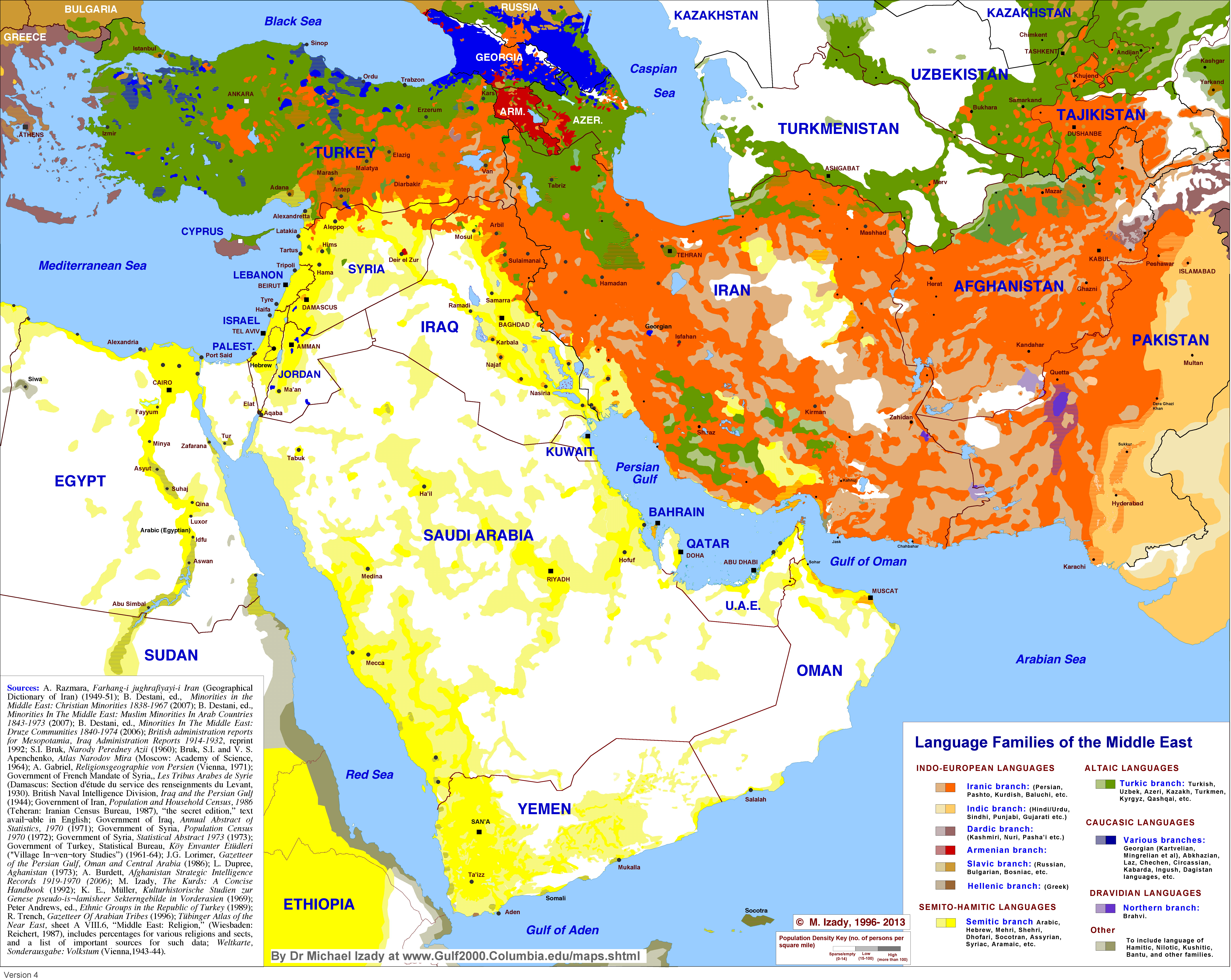Language families of the middle east vivid maps language families of the meadle east publicscrutiny Images