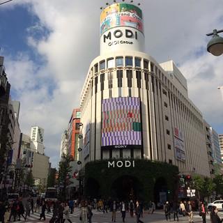 渋谷MODIのニコニコパイ「Pie face」