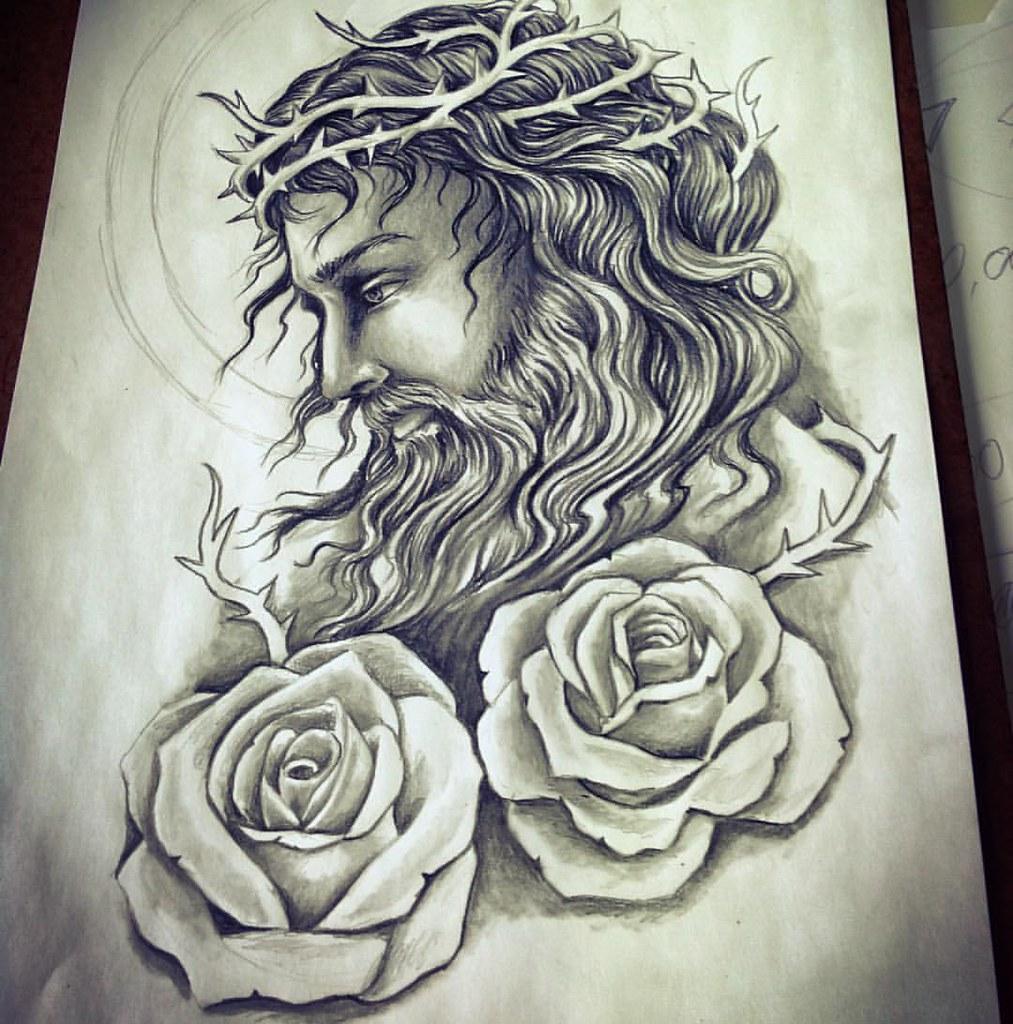 #sketch #jesus #tattoo #gugo #gugotattoo #guarulhos #relig