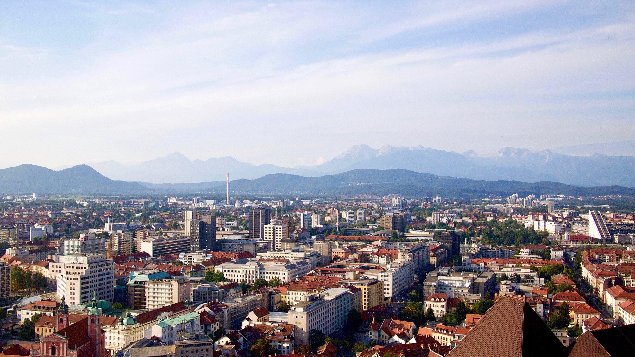 Panorama stolicy Słowenii - Ljubljana