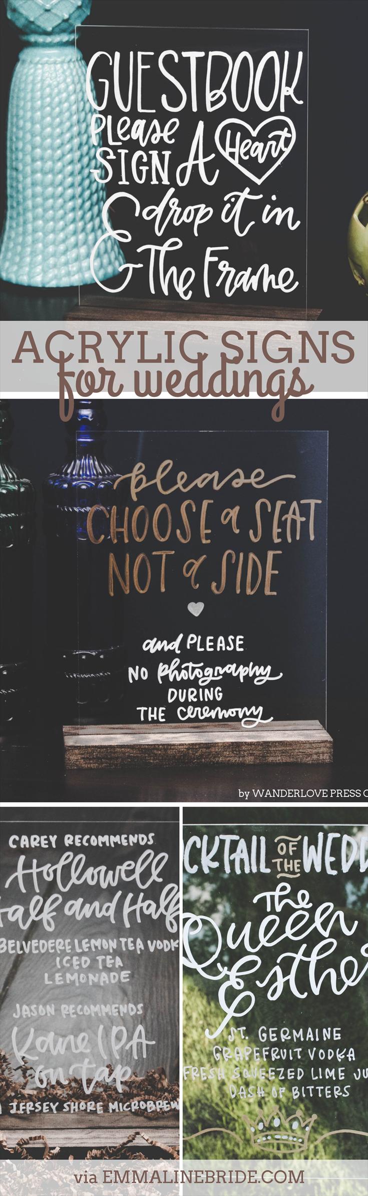 Acrylic Signs for Weddings