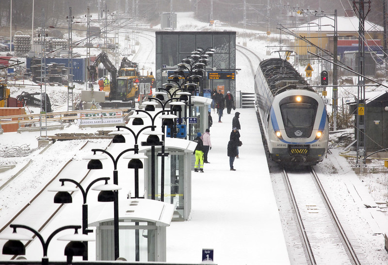Train Station in Winter