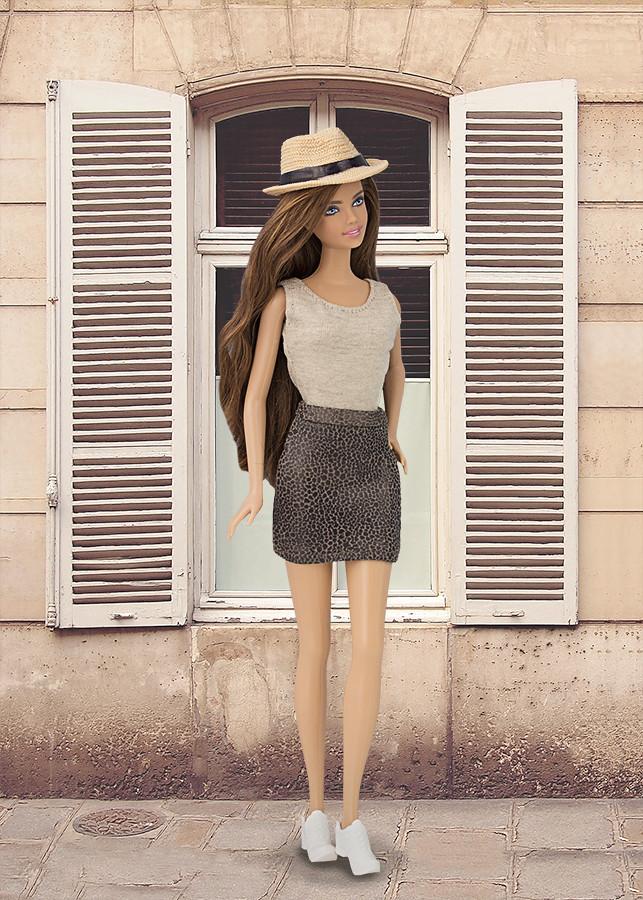 falda para barbie