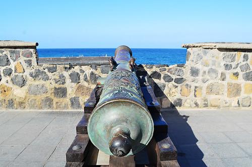 Old cannon, fort, Puerto de la Cruz