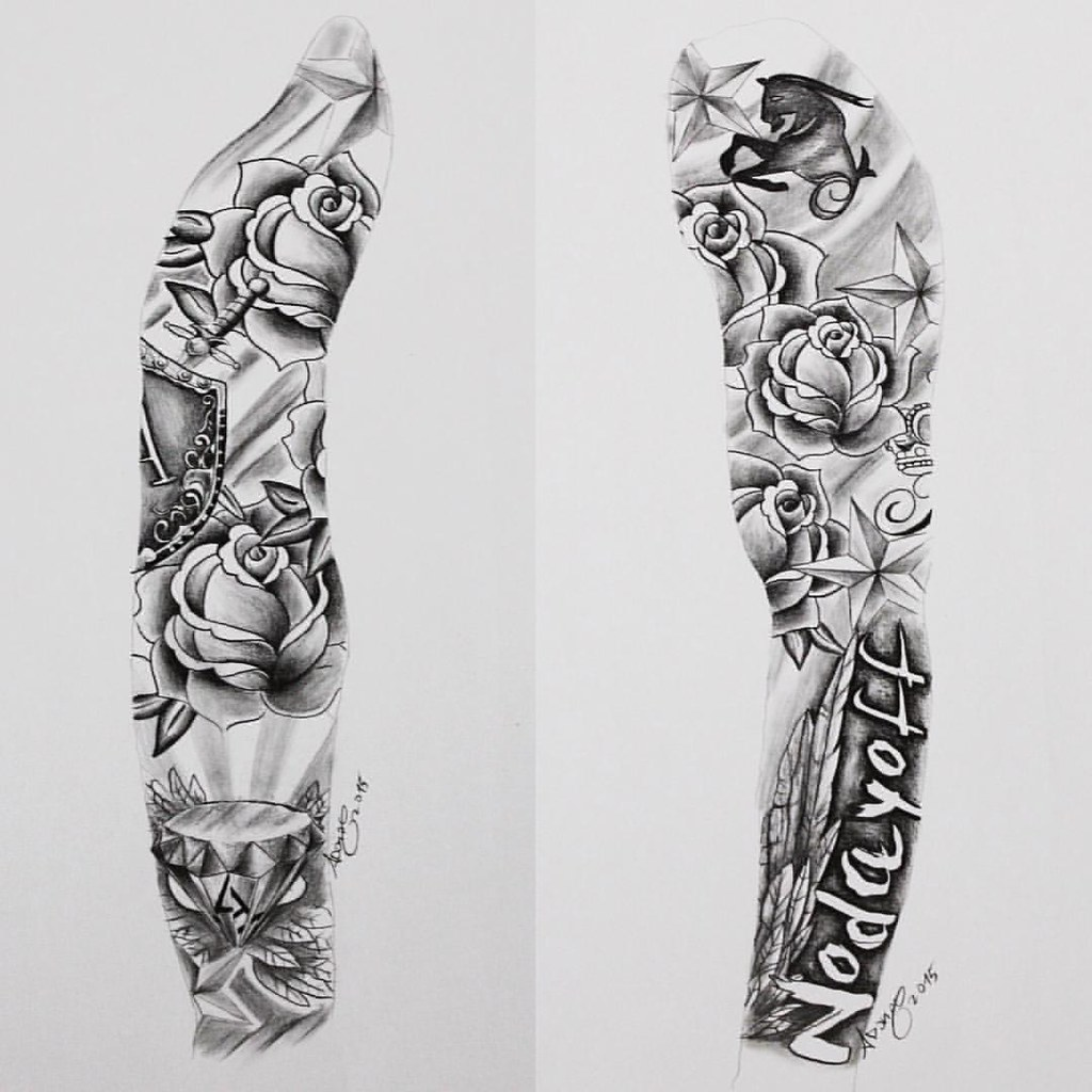 Sleeve Tattoo Drawings: Just Finished This Custom Full Sleeve #tattoo #tatts #ukta