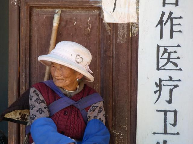 Mujer naxi en Shuhe (Yunnan, China)