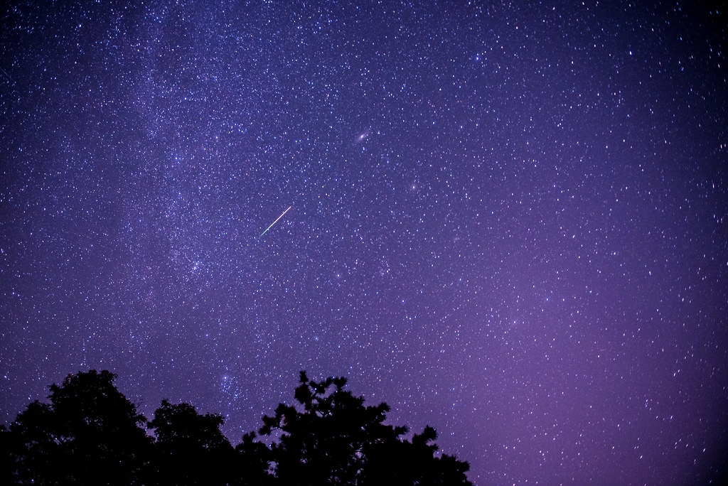 recent occurrence of meteor shower Meteorite craters retrieved  a meteor shower can be seen,  of which the nouveau-québec crater is the most recent,.