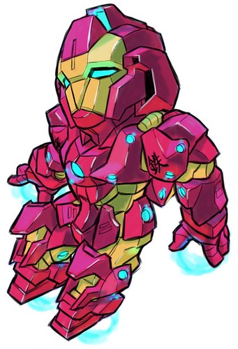 Marvel's Avengers Gundam by Aburaya Tonbi - Iron Man Type 100