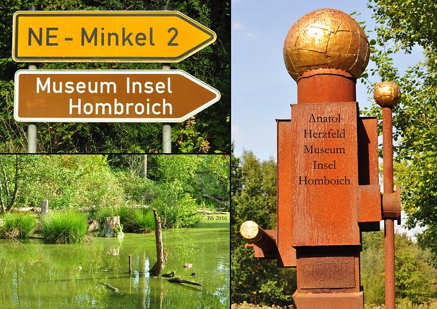 Museum Insel Hombroich bei Neuss ... Professor Anatol Herzfeld ... Schüler von Josef Beuys - Fotos und Collagen: Brigitte Stolle 2016