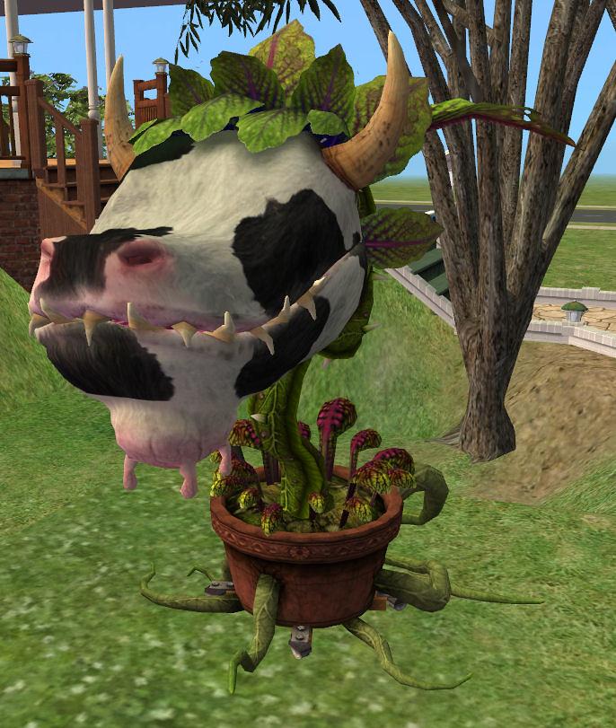 Planta-Vaca en Los Sims 2