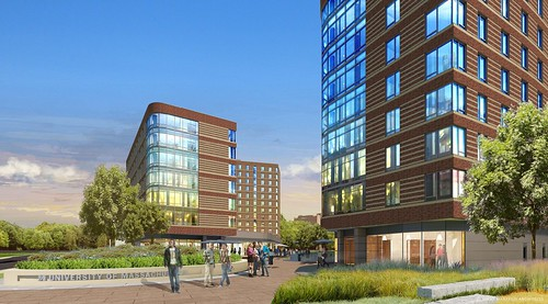 UMass Boston Residence Hall 1 Renderings