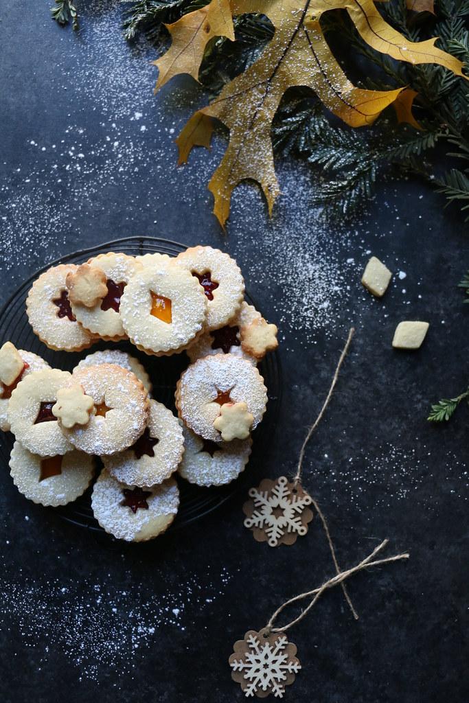 Cashew Linzer -Sandwich Cookies @foodfashionparty