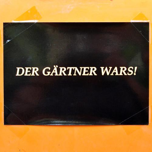 Herbst 2016 ... Bochum Botanischer Garten der Ruhr-Universität ... Der Gärtner war's ... Foto: Brigitte Stolle