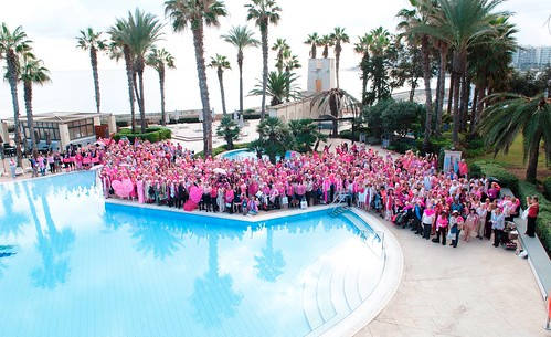 Malta Conference Pink by the Pool