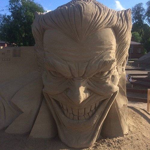 The Joker Sand Sculpture