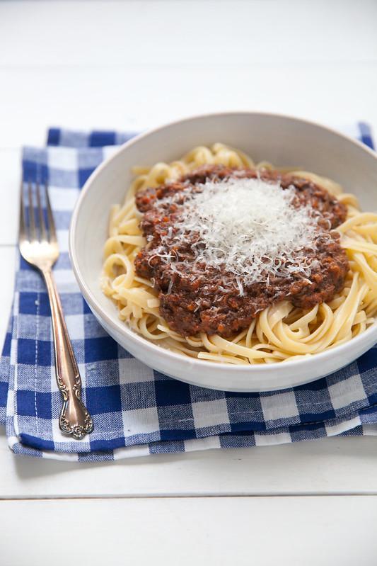Meatless Mushroom Bolognese Sauce