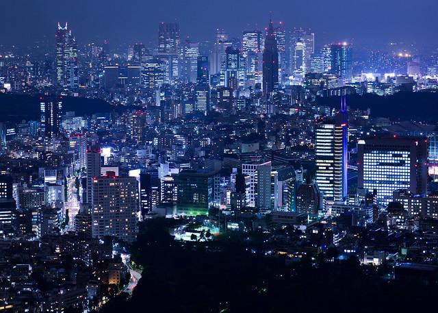 Vistas de Tokio desde el skydeck de la Torre Mori