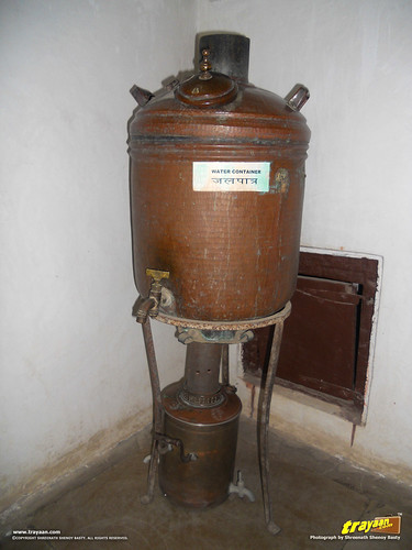 An old copper water container in the Bagore ki Haveli Museum in Udaipur, Rajasthan