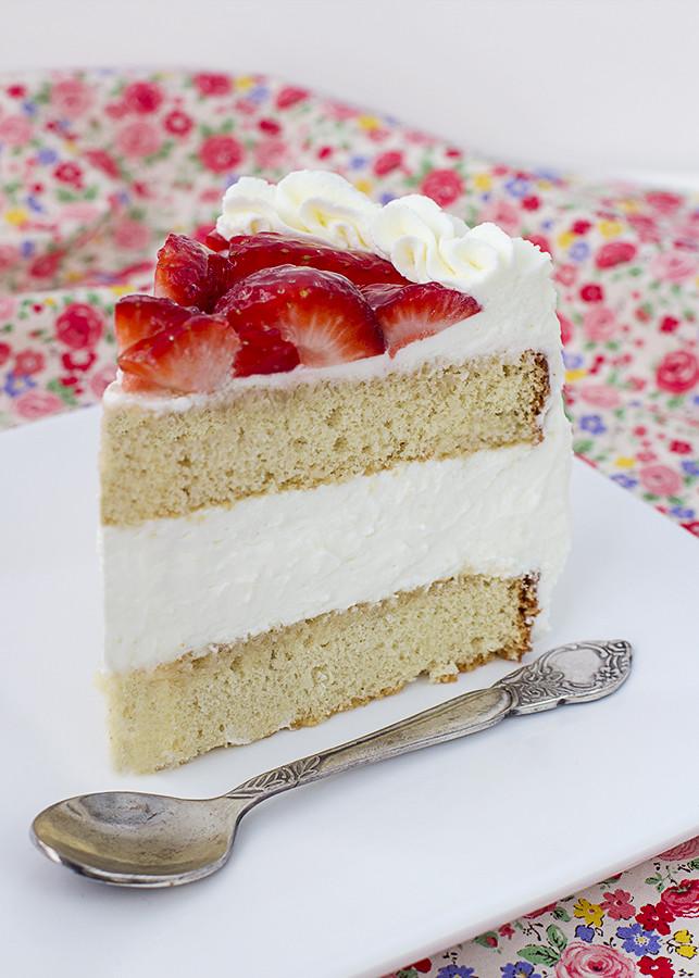 receta tarta nata fresas