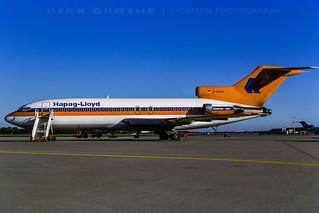 Hapag Lloyd 727 D-AHLM at HAM, 15.06.1986