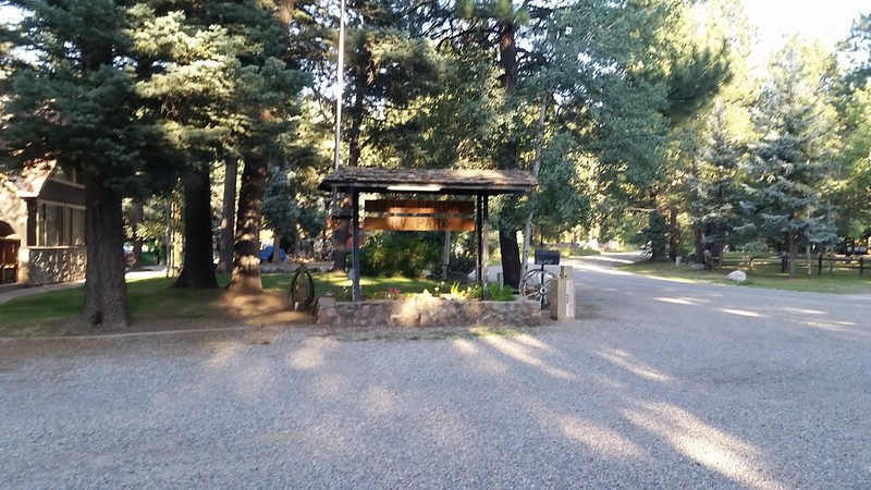 We drove to the Blue Spruce RV Park and each took glorious five dollar showers - Clean At Last!