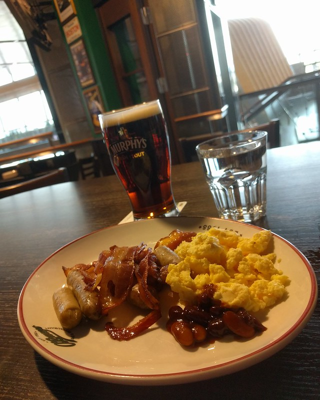 The breakfast at O'Leary's pub