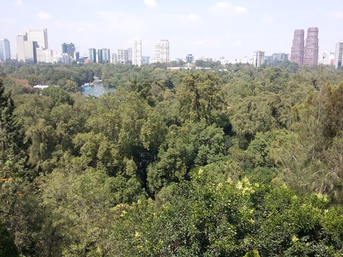Bosque de Chapultepec (vista do Castelo).