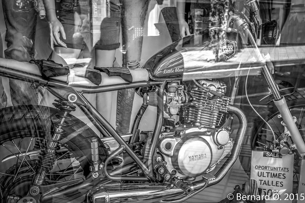 "Yamaha Belle R >> ""Little Blue"" C59R custom de Yamaha SR250 en vitrine... | Flickr"