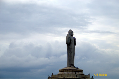 Lord Buddha's Tallest statue monolith stone, Hyderabad