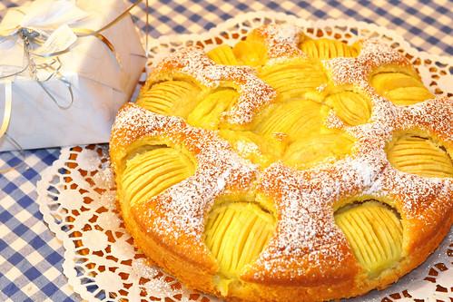 Geburtstag Geburtstagskuchen Geburtstagstorte Apfelkuchen schwäbischer versunkener verschlupfter Foto Brigitte Stolle