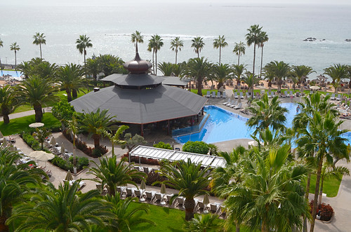 Pool and Restaurant, RIU Palace Hotel, Costa Adeje, Tenerife