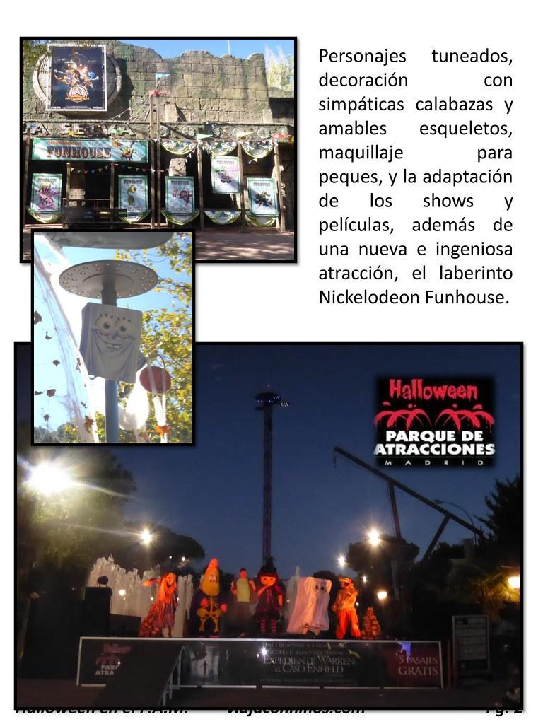 Parque de Atracciones de Madrid en Haloween