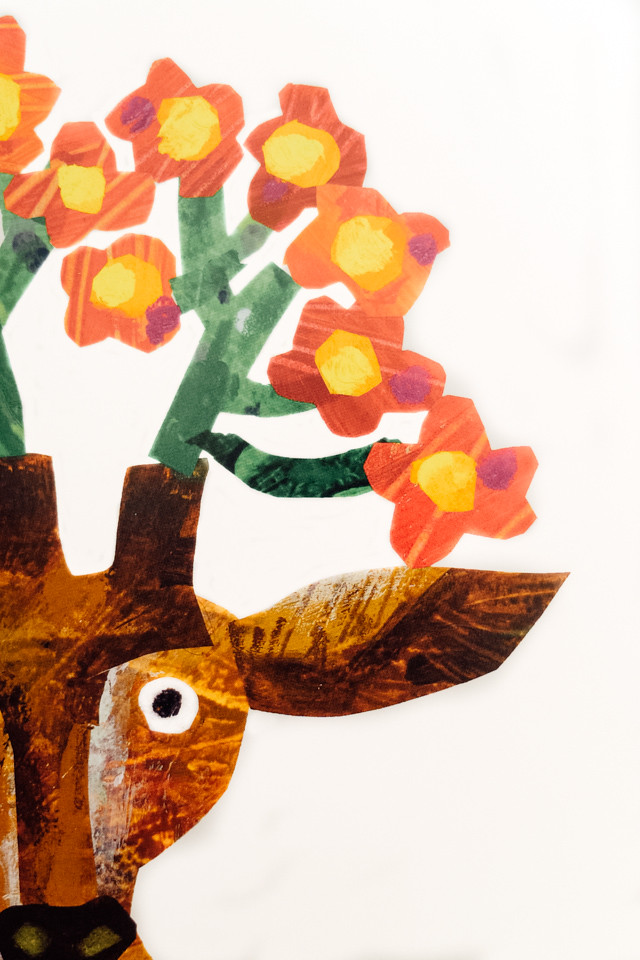 deer with flowers as antlers - by eric carle