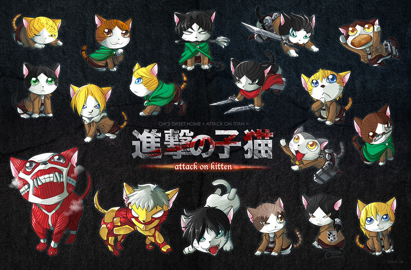 Cats vs Attack on Titan by suzuran