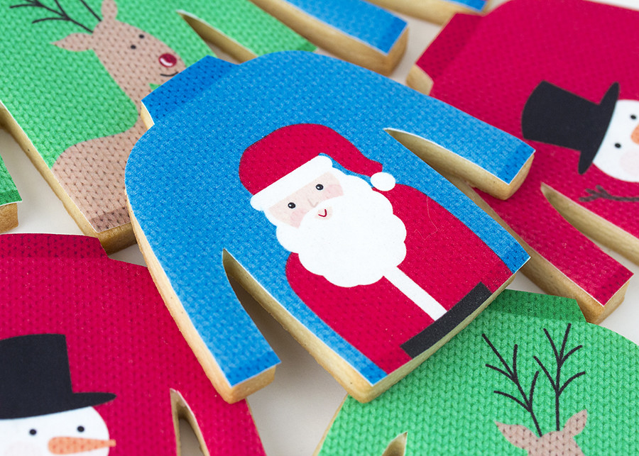 Galletas de jerseis de Navidad
