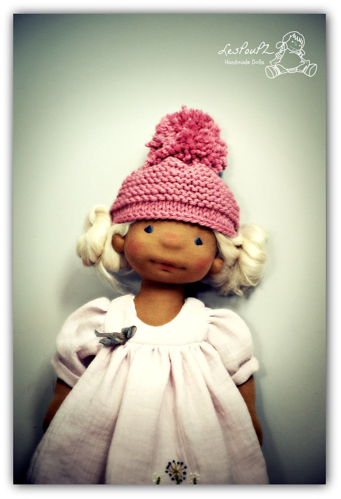 Madelaine, 15 inch Natural Fiber Doll by LesPouPZ