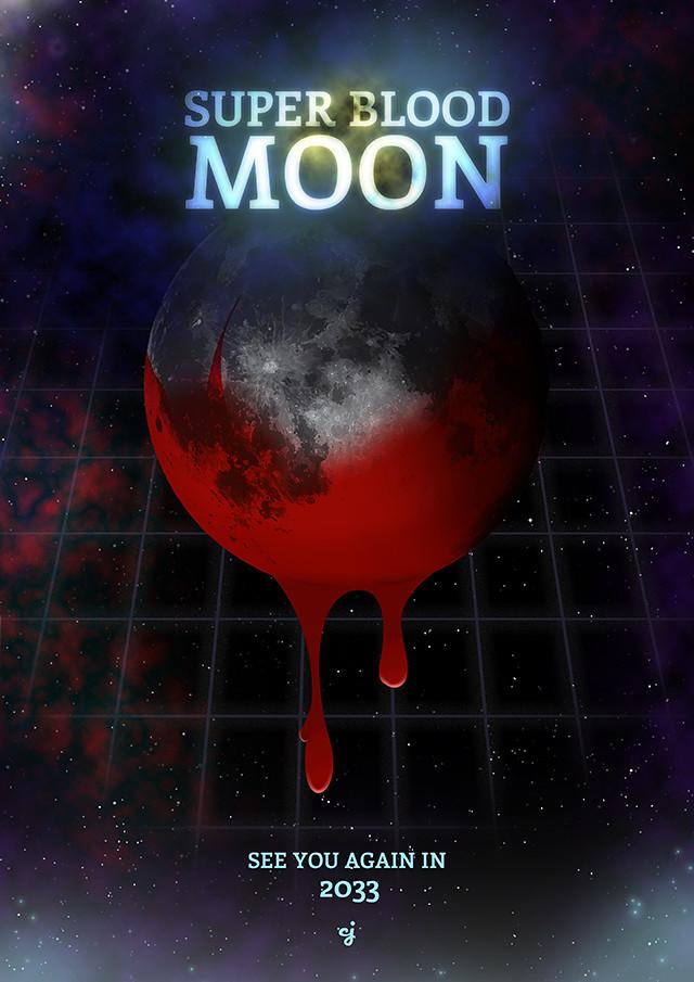Super Blood Moon poster design