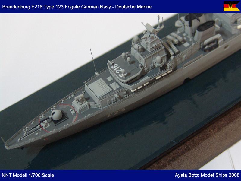 Frégate FGS Brandenburg F215 Type F123 Marine Allemande, NNT Modell 1/700 23646088201_9a3301fc25_c