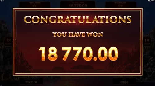 Titans of the Sun - Theia free spins prize
