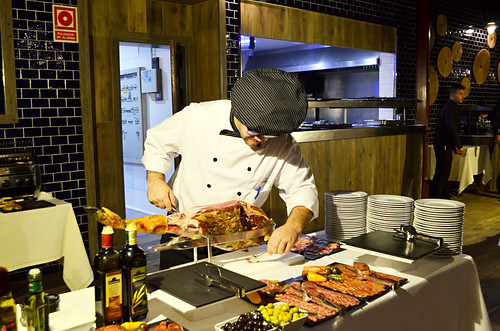 Chef at work, RIU Palace Hotel, Costa Adeje, Tenerife