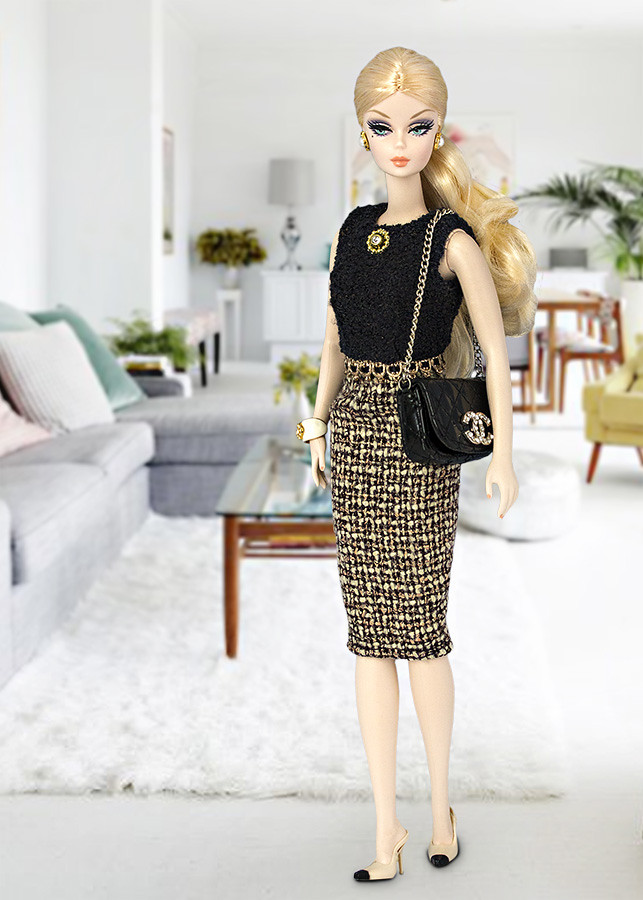 Barbie dress tweed