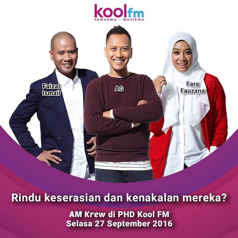 Faizal Ismail, Fara Fauzana & AG Bergabung Semula di Kool FM.
