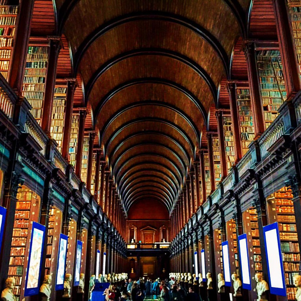 Inside The Long Room At The Old Library Trinity College