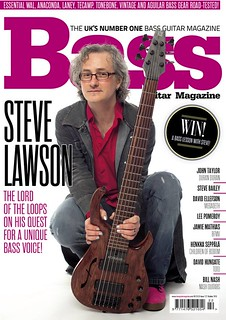 Steve Lawson on the cover of Bass Guitar Magazine