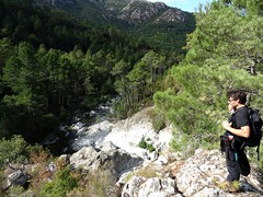 Arrivée en vue de la confluence Vaglie/Fium'Orbu
