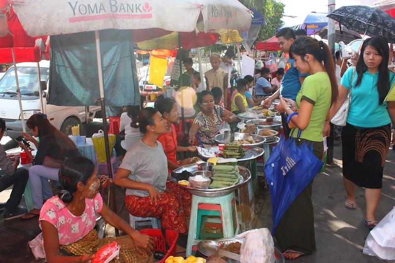 Еда уличная, мьянмская