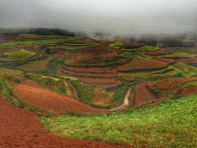 Paisaje de las Tierras Rojas de Dongchuan (Yunnan, China)