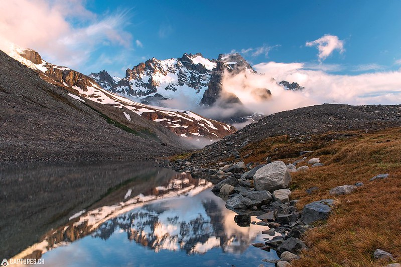 Sunrise at the laguna - Parque Nacional Cerro Castillo