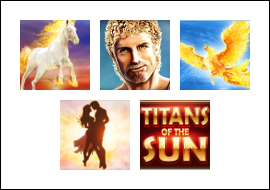 free Titans of the Sun - Hyperion slot game symbols