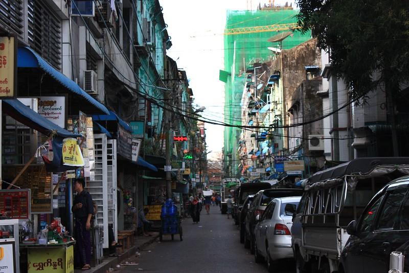 Мьянма, улицы Янгона